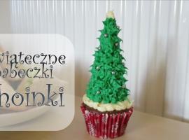 Jak zrobić świąteczne babeczki w kształcie choinek