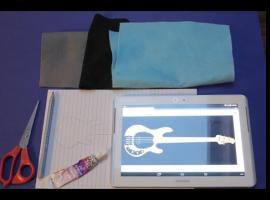 Jak zrobić brelok w kształcie gitary z filcu