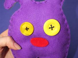 Jak zrobić zabawkę z filcu - potworek