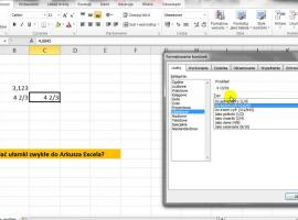 Jak wstawiać ułamki zwykłe w Excelu