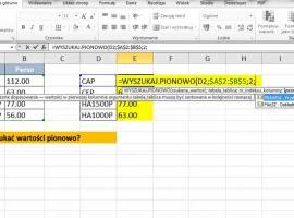 Jak korzystać z funkcji wyszukiwania w pionie w Excelu