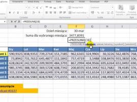 Jak korzystać z funkcji Przesunięcie w Excelu