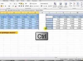 Jak zaznaczać nie sąsiadujące ze sobą obszary w Excelu