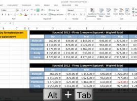Jak przełączać okna Excela za pomocą skrótów klawiszowych