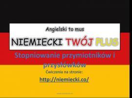 Jak opanować niemiecki - stopniowanie przymiotników i przysłówków