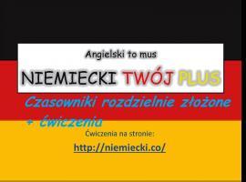 Jak opanować niemiecki - czasowniki rozdzielnie złożone