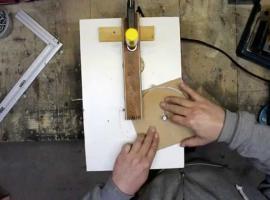 Jak szybko wyciąć równe kółko z drewna