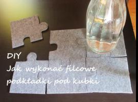 Jak wykonać podkładki z filcu w kształcie puzzli