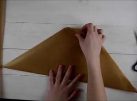 Jak zrobić worek cukierniczy z papieru do pieczenia