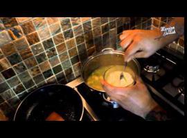 Jak zrobić krem porowy z chipsami z boczku