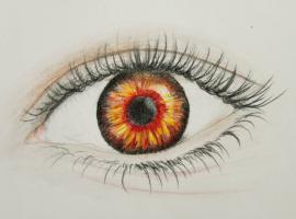 Jak narysować oko - profesjonalny rysunek kredkami
