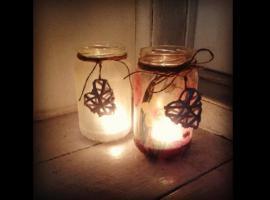 Jak zrobić świecznik lampion ze słoika - metoda Decoupage