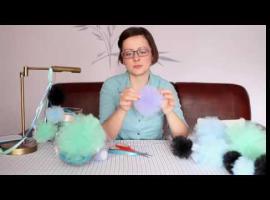 Jak zrobić pompony z tiulu - sposób nr 1