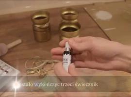 Jak zrobić złote świeczniki