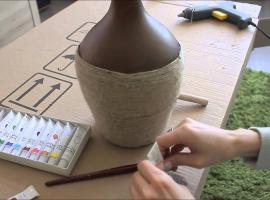 Jak zrobić wazon etniczny ze sznurka