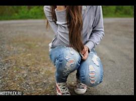 Jak zrobić dziury w jeansach na kolanach
