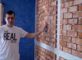 Jak wykonać imitację muru pruskiego na ścianie