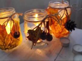 Jak zrobić jesienny świecznik
