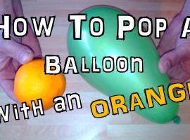Jak przedziurawić balon ... pomarańczą