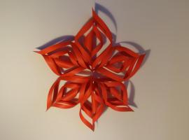 Jak zrobić ozdobę świąteczną - gwiazda 3D z papieru
