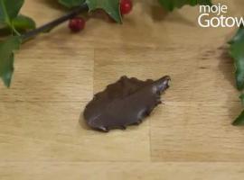 Jak zrobić liście z czekolady