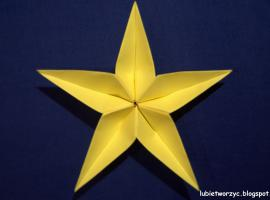 Jak zrobić gwiazdkę kusudama na choinkę