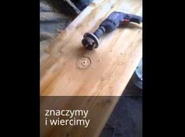 Jak zrobić blat pod umywalki ze starych belek