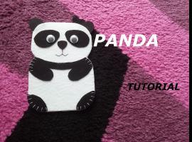 Jak zrobić pokrowiec na telefon z filcu - Panda