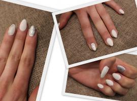 Jak ozdobić paznokcie - białe paznokcie z kryształkami