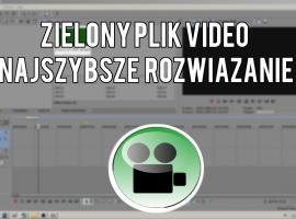 Jak naprawić problem z zielonym plikiem video w Sony Vegas