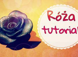 Jak zrobić czarną różę z modeliny
