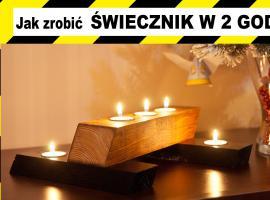 Jak zrobić świecznik z drewna na prezent