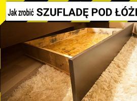 Jak zrobić wysuwany schowek pod łóżko wykorzystując palety