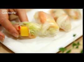 Jak zrobić roladki japońskie - papier ryżowy, łosoś i mango