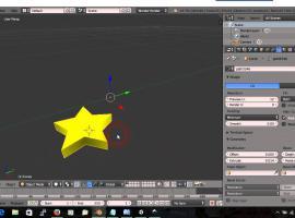 Jak zrobić gwiazdkę w Inkscape i Blenderze plus import do Unity3D