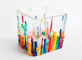 Jak zrobić organizer na biurko w tęczowych kolorach