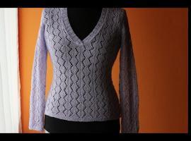 Jak uszyć bluzkę - ażurowy wzór na drutach