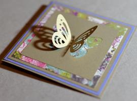 Jak zrobić kartkę okazjonalną z motylkiem
