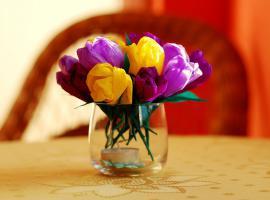 Jak zrobić kwiaty z bibuły marszczonej - krokusy
