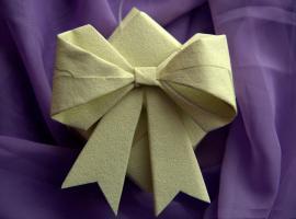 Jak zrobić kokardę prezentową techniką origami