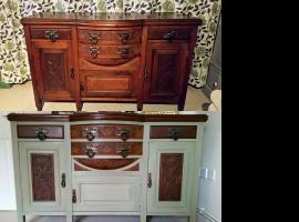 Jak malować stare meble - komoda zamieniona na umywalkę