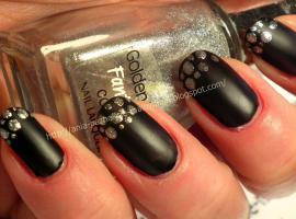 Jak pomalować paznokcie - czarny mat ze srebrem