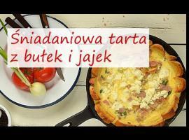 Jak przygotować śniadanie - tarta z bułek i jajek