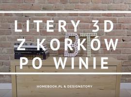 Jak wykorzystać korki po winie - litery 3D