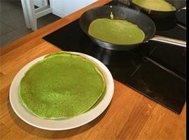 Jak zrobić zielone naleśniki wegańskie