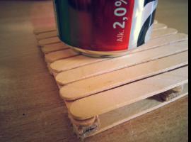 Jak zrobić mini euro palety, czyli genialne podstawki pod szklanki