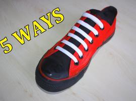 Jak wiązać sznurówki - 5 kreatywnych sposobów