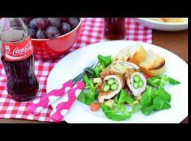 Jak zrobić grillowane roladki ze schabu z szynką i szparagami