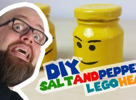Jak zrobić solniczkę i pieprzniczkę w stylu główek Lego