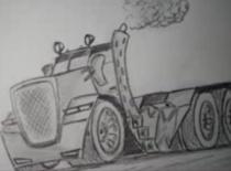 Jak rysować karykaturę ciężarówki